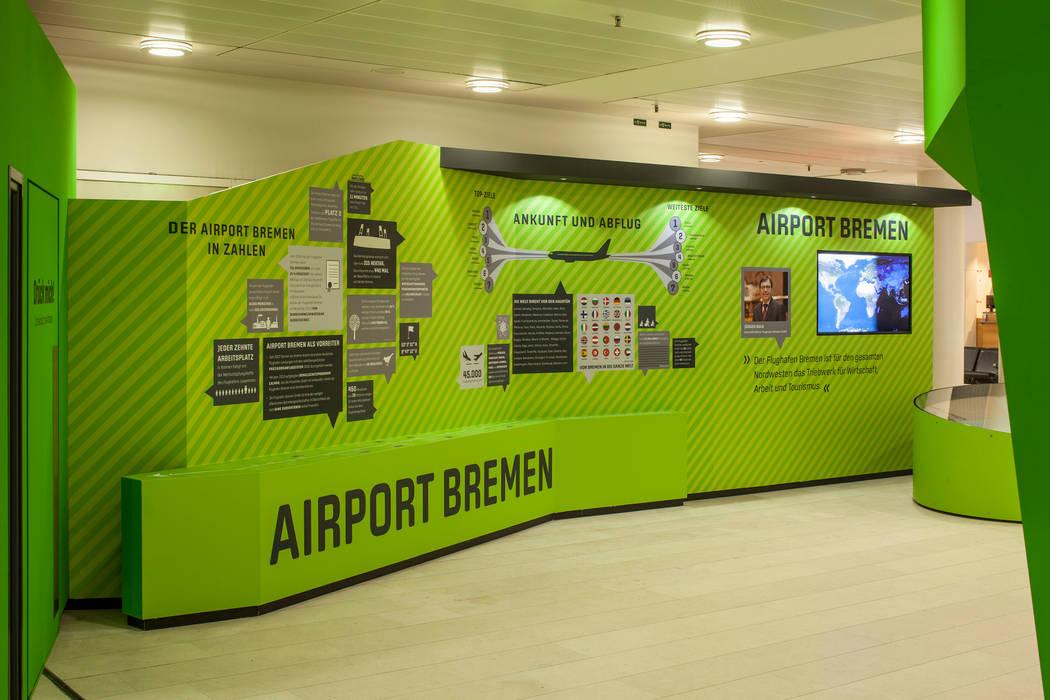 Der Airport Bremen in Zahlen Moderne Flughäfen von Hellmers P2   Architektur & Projekte Modern