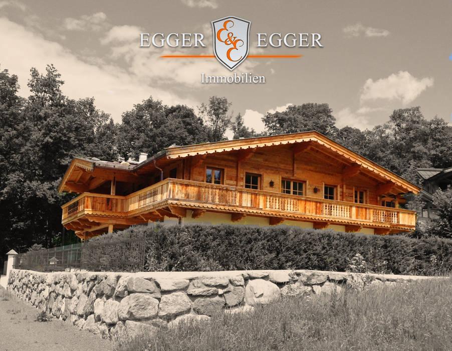 Luxuriöse Residenz in Top-Lage von Kitzbühel:  Häuser von homify,Landhaus
