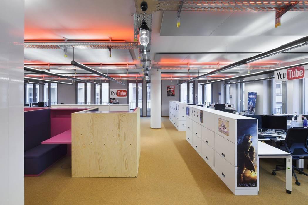 Google Office Düsseldorf Industriale Bürogebäude von LEPEL & LEPEL Architektur, Innenarchitektur Industrial