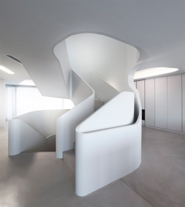 J.MAYER.H Couloir, entrée, escaliers modernes