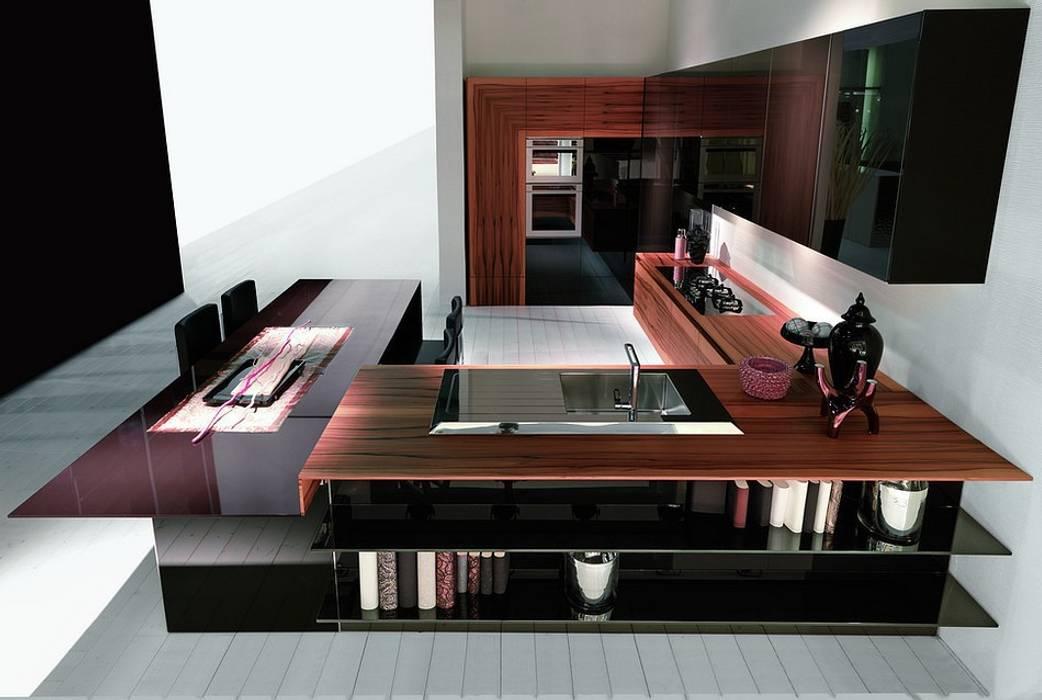 現代廚房設計點子、靈感&圖片 根據 Küchengaleria Oßwald GmbH 現代風