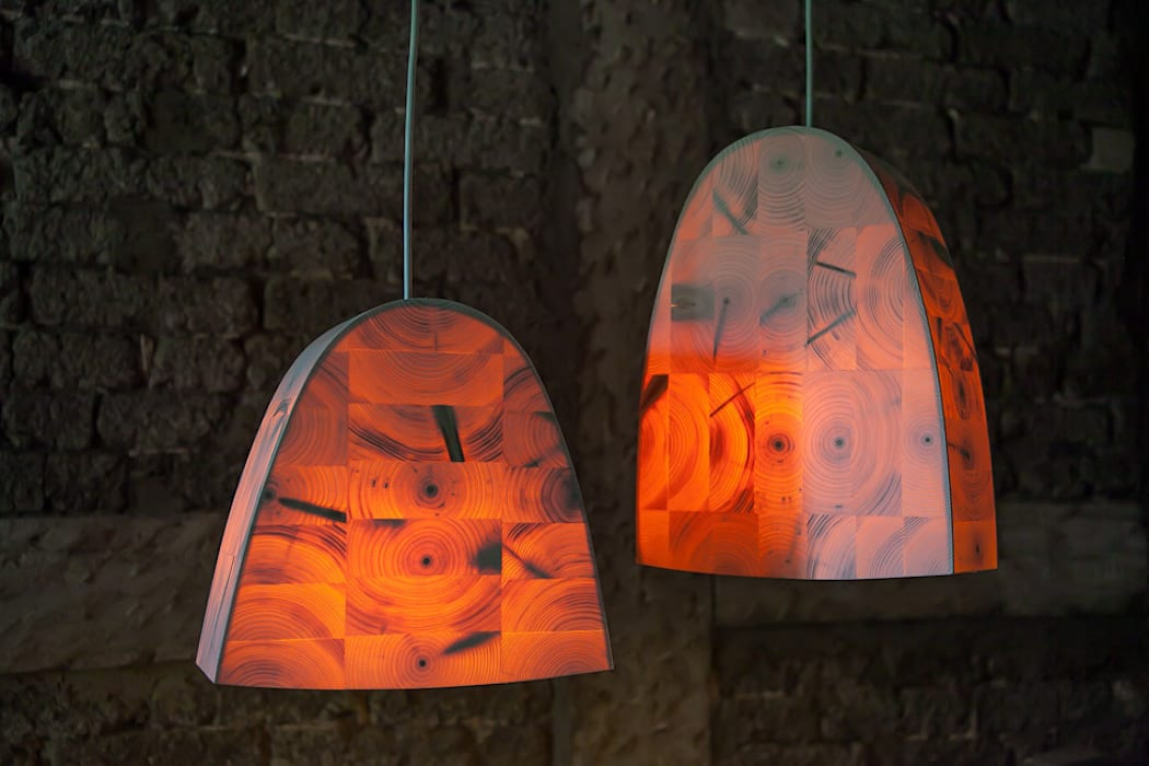 Christian Masche Holz Design Skulptur Living roomLighting