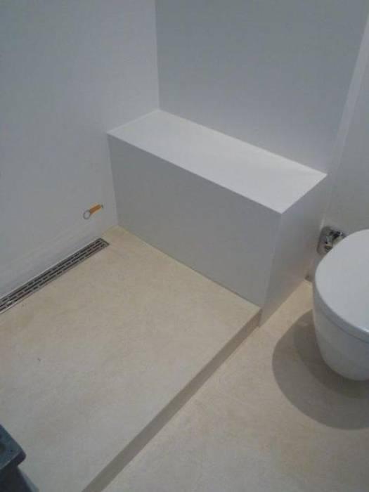 Bäder,küchen und böden in beton ciré: badezimmer von ...