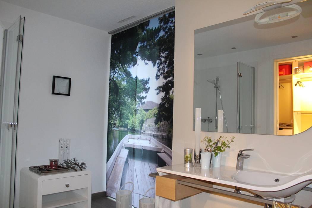 Fotovorhang für das badezimmer: fenster & tür von fotokasten gmbh ...
