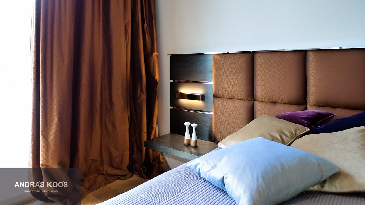 Harvestehuder Weg -  Penthouse:  Schlafzimmer von homify,Modern