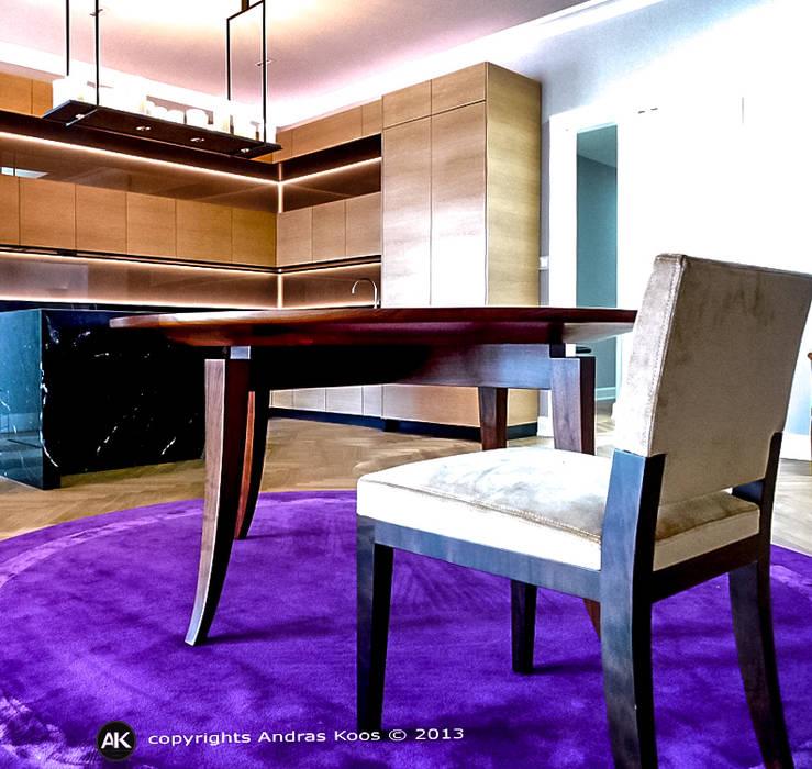 Harvestehuder Weg -  Penthouse:  Wohnzimmer von homify,Modern