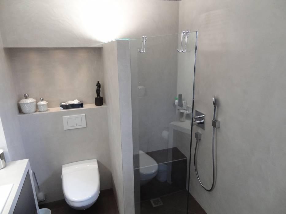 Privatbad München:  Badezimmer von Wände mit Charakter