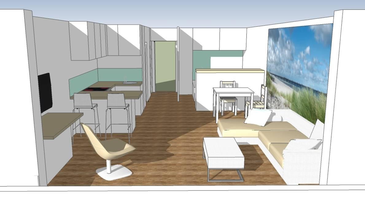 3D Visualisierung:  Wohnzimmer von Raumplanung online