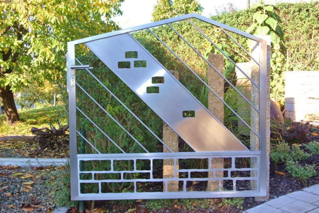 Edelstahl Tore:  Garten von Edelstahl Atelier Crouse - Stainless Steel Atelier