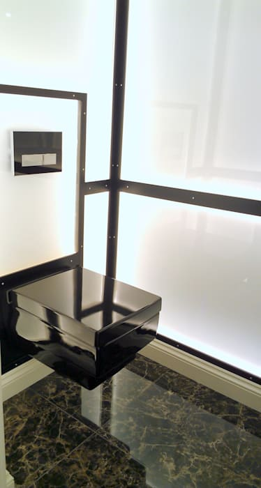 Gäste WC:  Badezimmer von Beate Hoos interior design