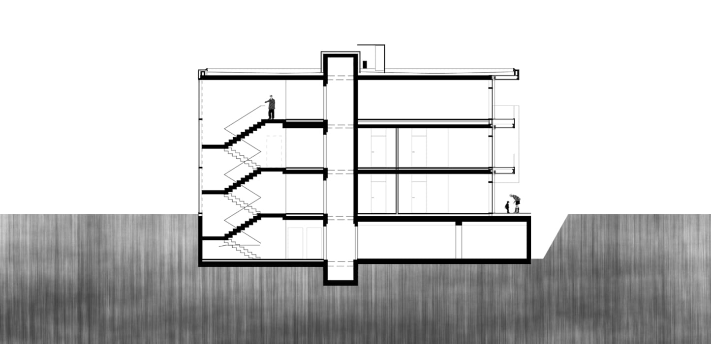 Schnitt: modern  von A-Z Architekten,Modern