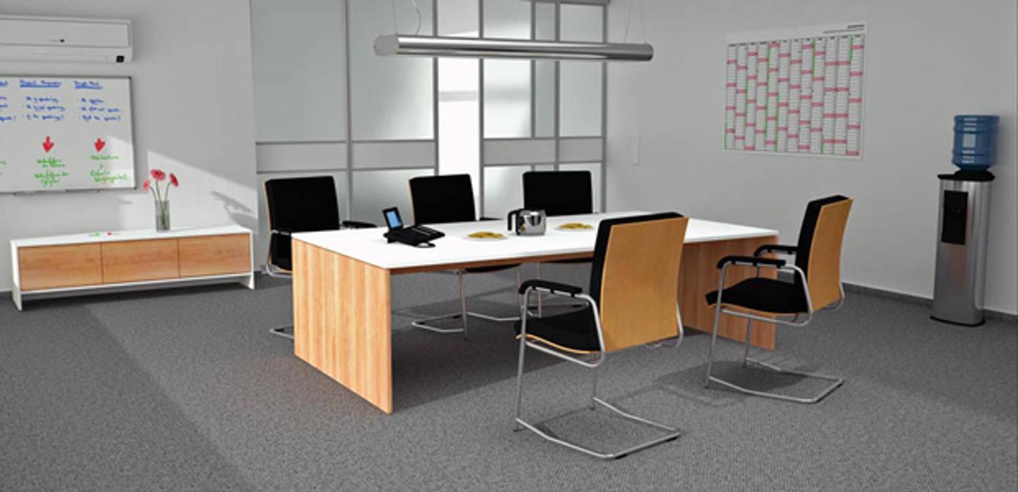 Besprechungstisch in zwei Dekoren:  Arbeitszimmer von deinSchrank.de GmbH