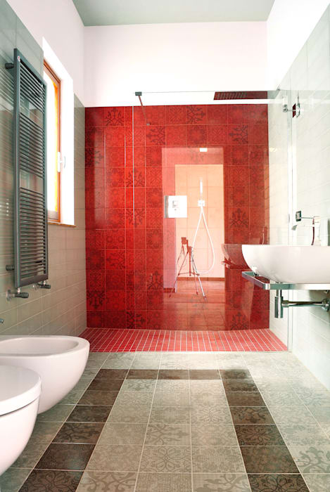 Home Appia Antica Industrial style bathroom by CAFElab studio Industrial