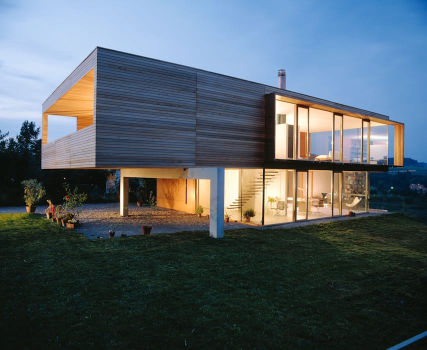 Maisons modernes par k-m architektur Moderne