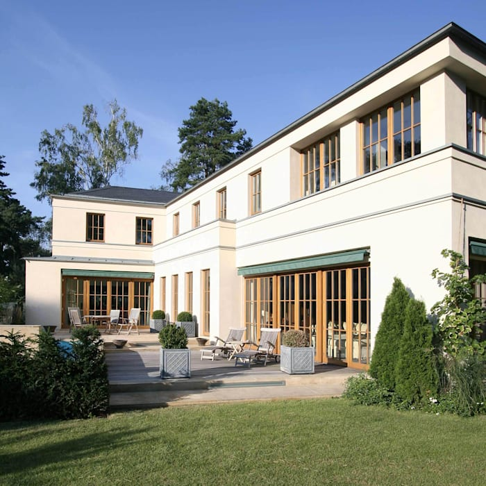 English inspired - Domizil mit Landhausflair:  Terrasse von CG VOGEL ARCHITEKTEN