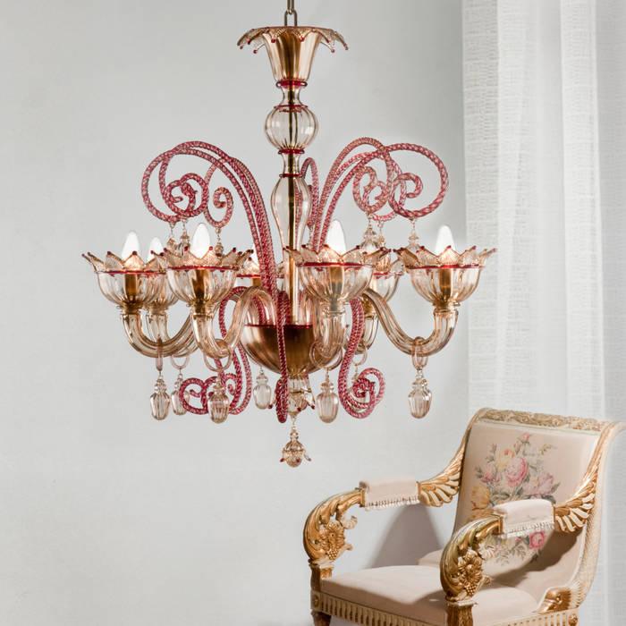 Lampadario classico rosso e ambra – mocenigo: camera da letto in ...