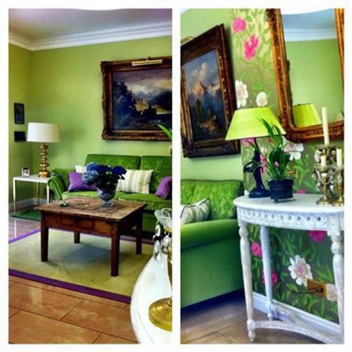 Das Gartenzimmer: klassische Wohnzimmer von Innenarchitektin Claudia Haubrock