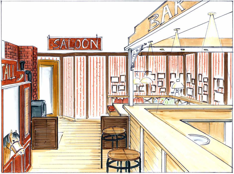 gemütliche Sitzecke des Westernsaloons:  Bürogebäude von Innenarchitektin Claudia Haubrock