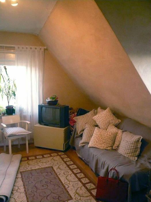 Vorherbild des Hüttenzaubers Ausgefallene Wohnzimmer von Innenarchitektin Claudia Haubrock Ausgefallen