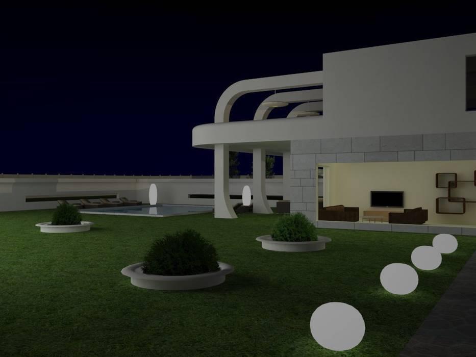 Lateral de chalet. MUMARQ ARQUITECTURA E INTERIORISMO Casas de estilo moderno