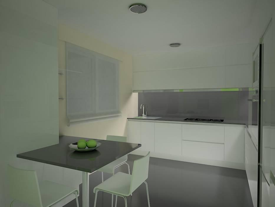 Cocina con gran almacenaje.: Cocinas de estilo moderno de MUMARQ ARQUITECTURA E INTERIORISMO