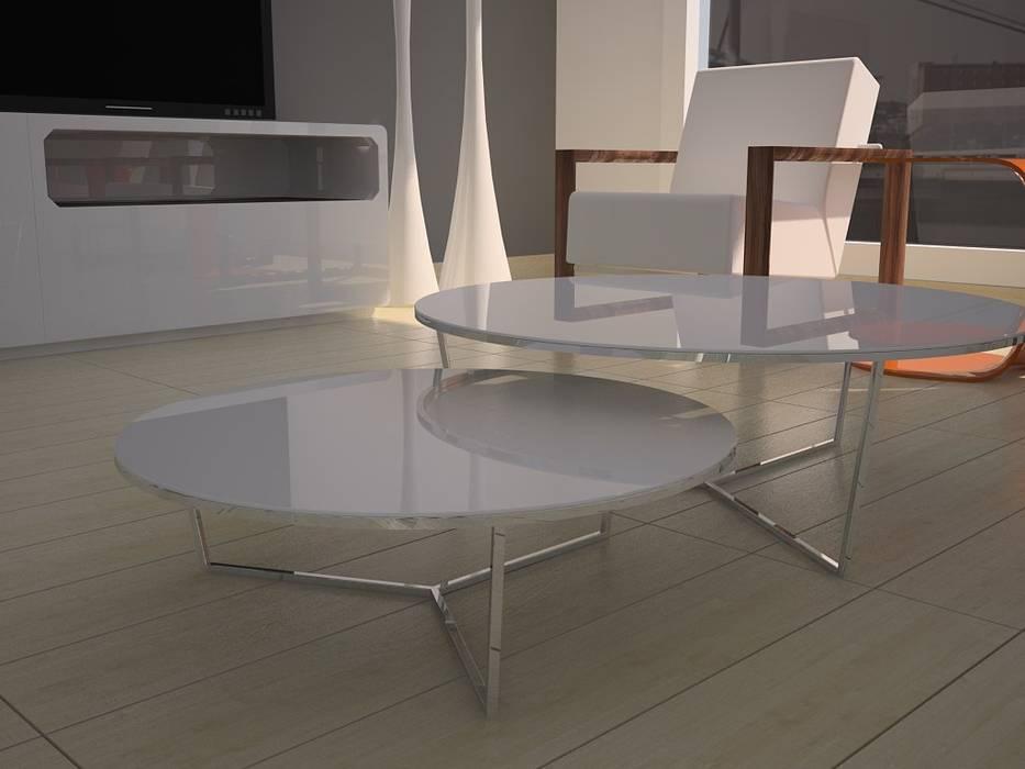 Maravillosas mesas de centro.: Comedores de estilo moderno de MUMARQ ARQUITECTURA E INTERIORISMO