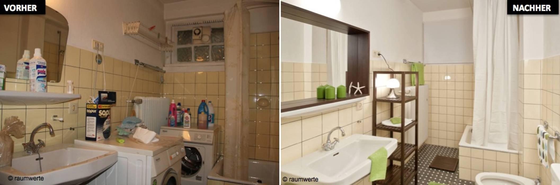 Home Staging Erbimmobilie Siebziger Jahre Badezimmer von raumwerte Home Staging
