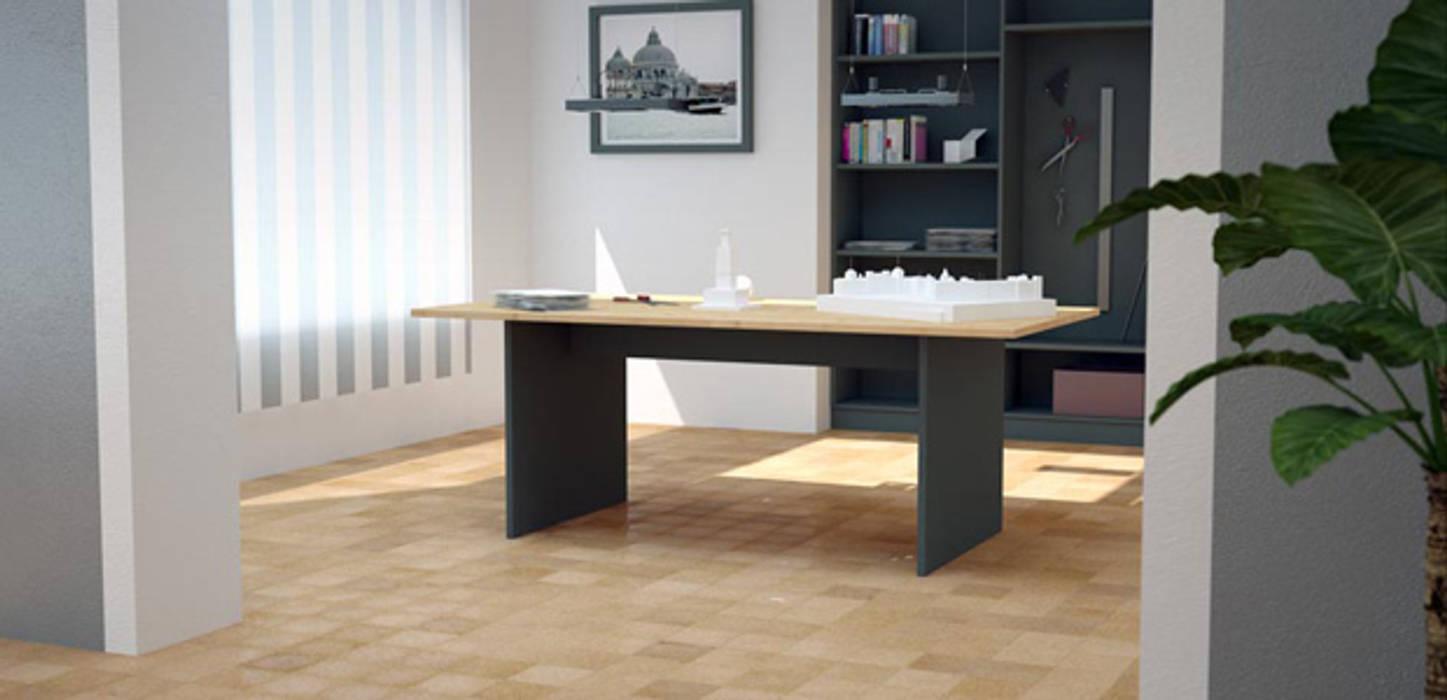 Schreibtisch nach Maß:  Arbeitszimmer von deinSchrank.de GmbH