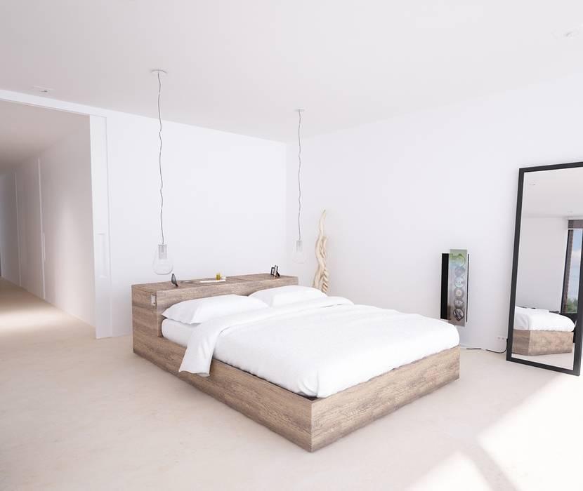 Proyecto de Vivienda Unifamiliar: Dormitorios de estilo  de DUE Architecture & Design, Moderno