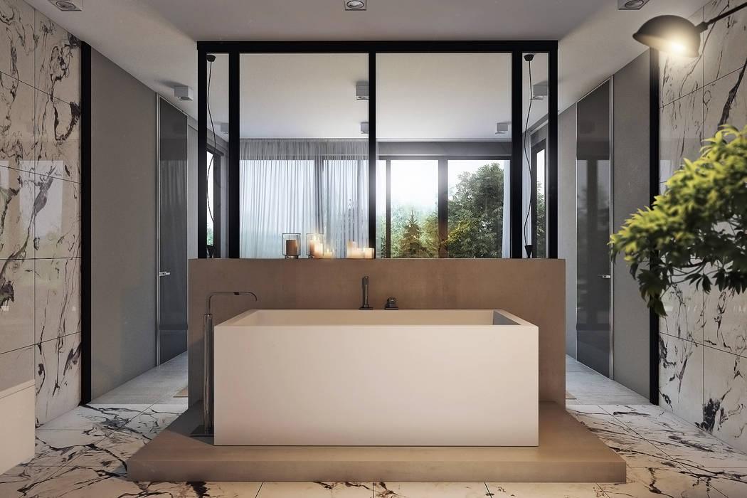 Baños de estilo minimalista de Angelina Alekseeva Minimalista