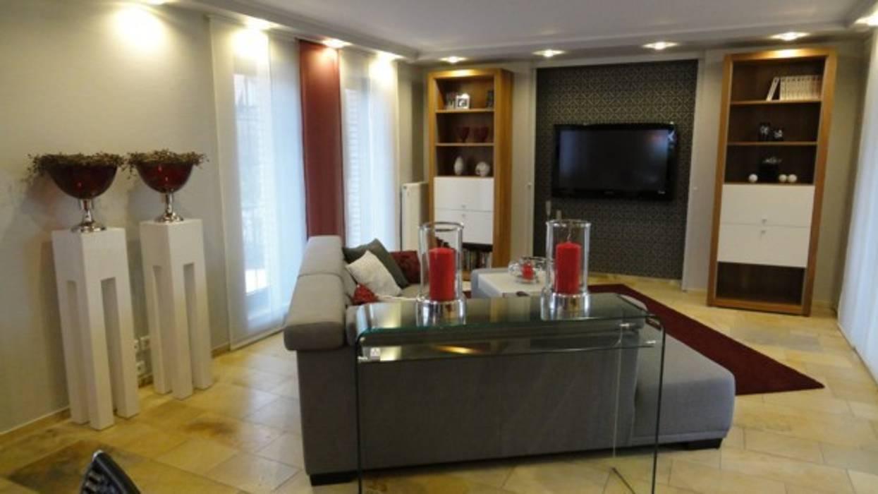 Perfekte harmonie in farben und dekoration: wohnzimmer von ...