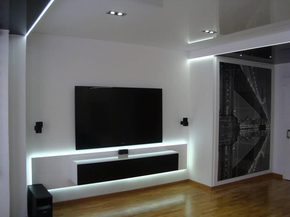 Salon y entrada interiorismoDMITRY Salones de estilo moderno