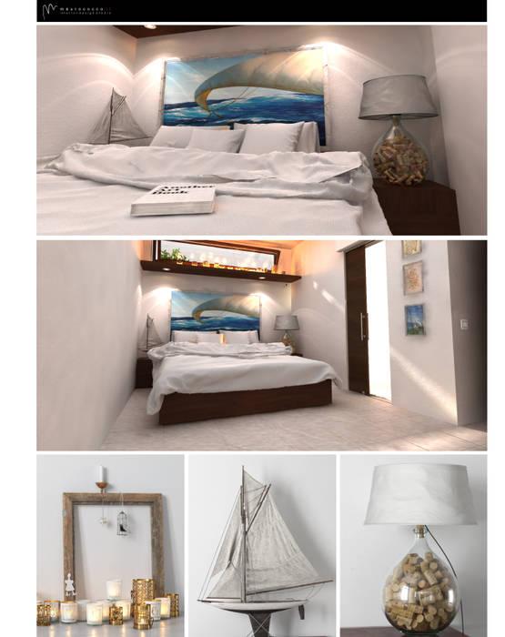 Mediterranean style bedroom by maurococco.it Mediterranean