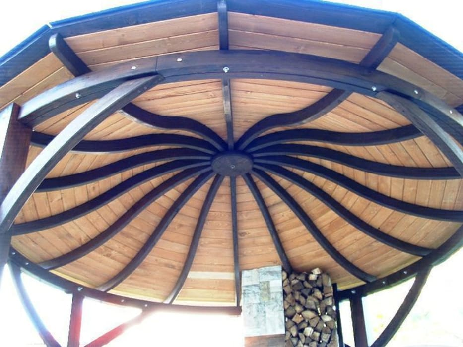 Valencia Gazebo Garden by EcoCurves - Bespoke Glulam Timber Arches