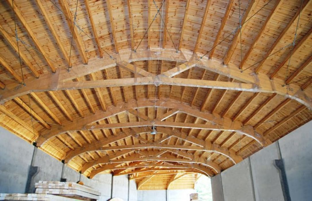 Our New Factory:  Garden by EcoCurves - Bespoke Glulam Timber Arches