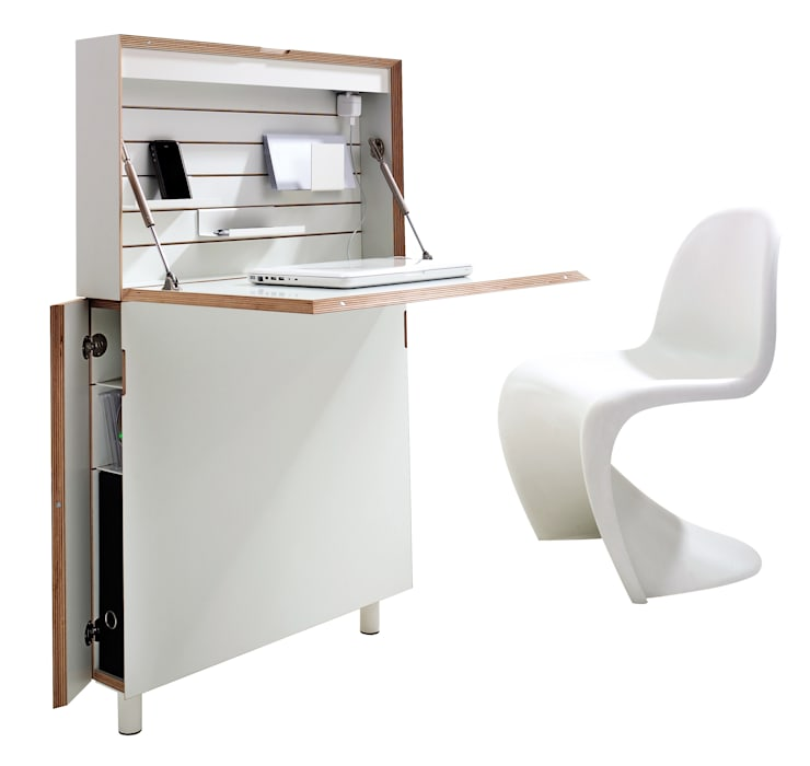 FLATMATE: A space saving desk solution for your home office in times of CORONA... studio michael hilgers ArbeitszimmerSchreibtische
