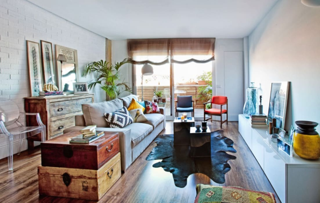 Foto: Patricia Gallego para Mí Casa. HEARST magazines I España.Reforma vivienda Chic and Cheap. Salón Chic and Cheap: Salones de estilo  de decoraCCion