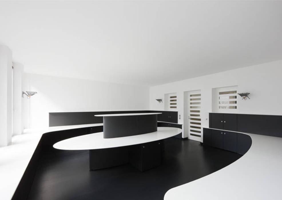 Office Digital Outdoor Moderne Geschäftsräume & Stores von IONDESIGN GmbH Modern
