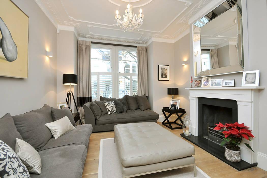 Fulham 1 Salon moderne par MDSX Contractors Ltd Moderne