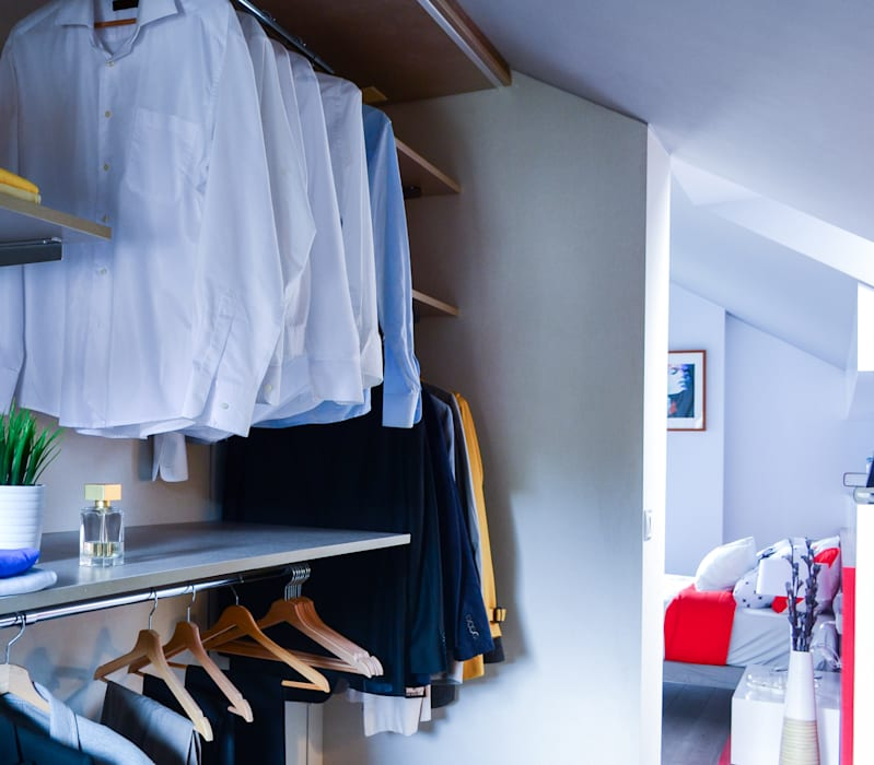 Organiza tu ropa con un vestidor Vestidores de estilo escandinavo de TEKNIA ESTUDIO Escandinavo