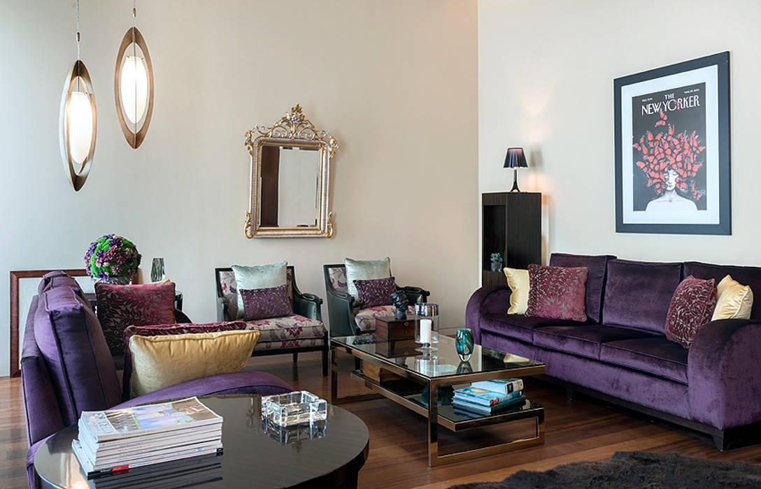 Salon de style  par Cota Cero Interiorismo,