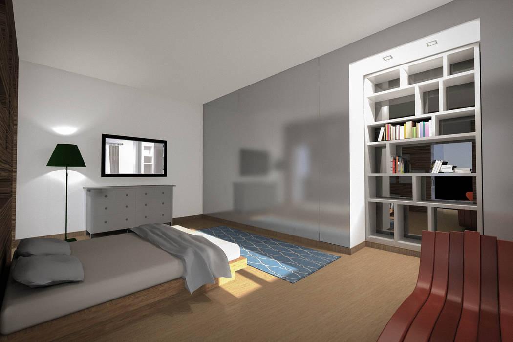 Camera da letto Soggiorno eclettico di Marco D'Andrea Architettura Interior Design Eclettico