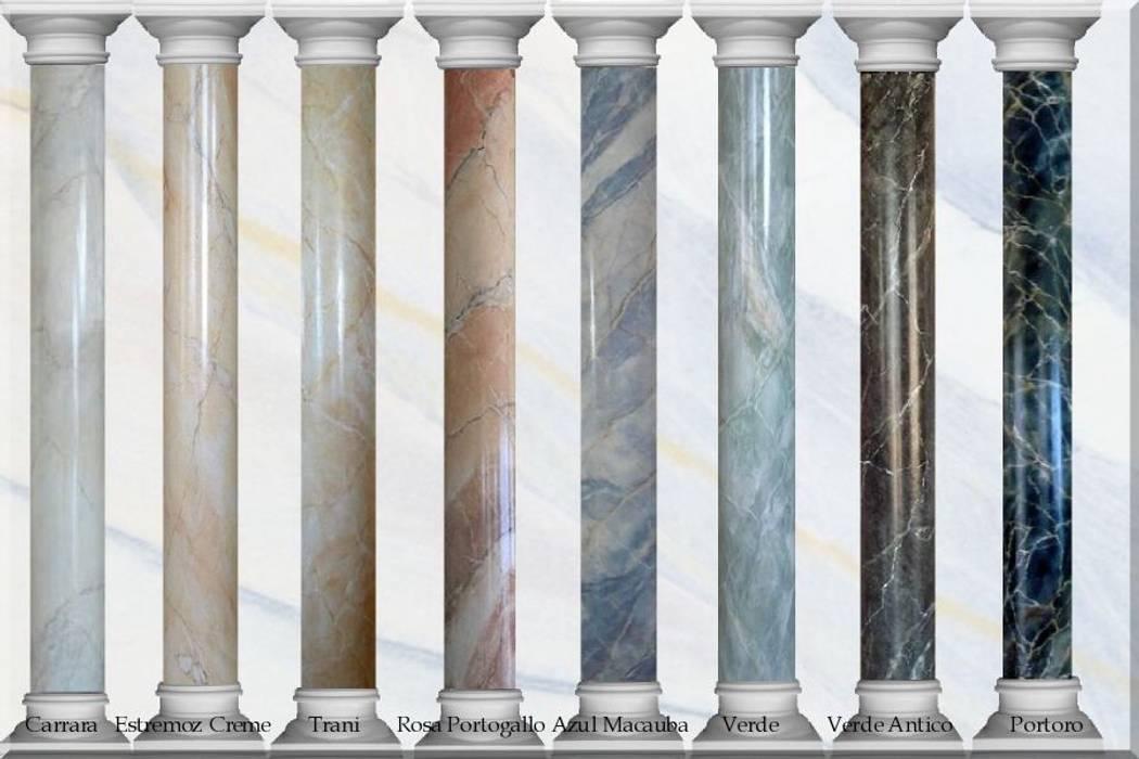 Marmormalerei Mustersäulen von Illusionen mit Farbe