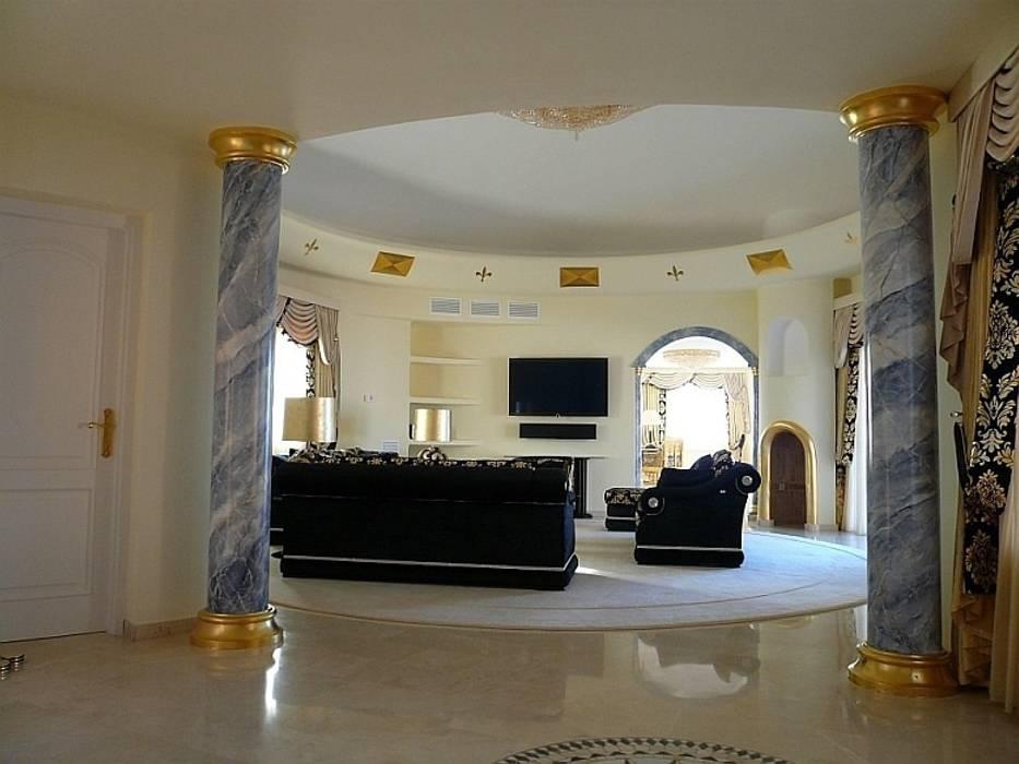 Marmormalerei: klassische Wohnzimmer von Illusionen mit Farbe