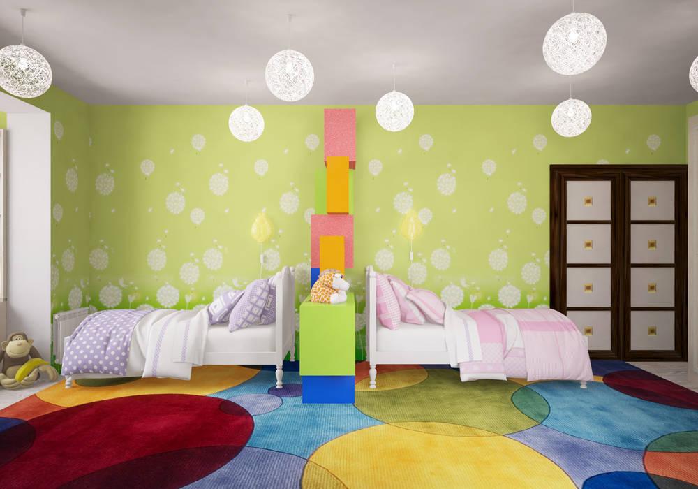 Детская в московской квартире Гурьянова Наталья Детская комната в стиле модерн