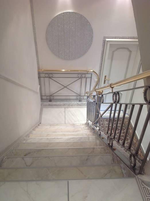 Neugestaltung eines Treppenhauses Klassischer Flur, Diele & Treppenhaus von Illusionen mit Farbe Klassisch