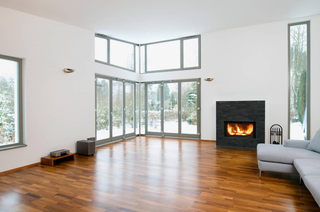 Anbau Interior: moderne Wohnzimmer von and8 Architekten Aisslinger + Bracht