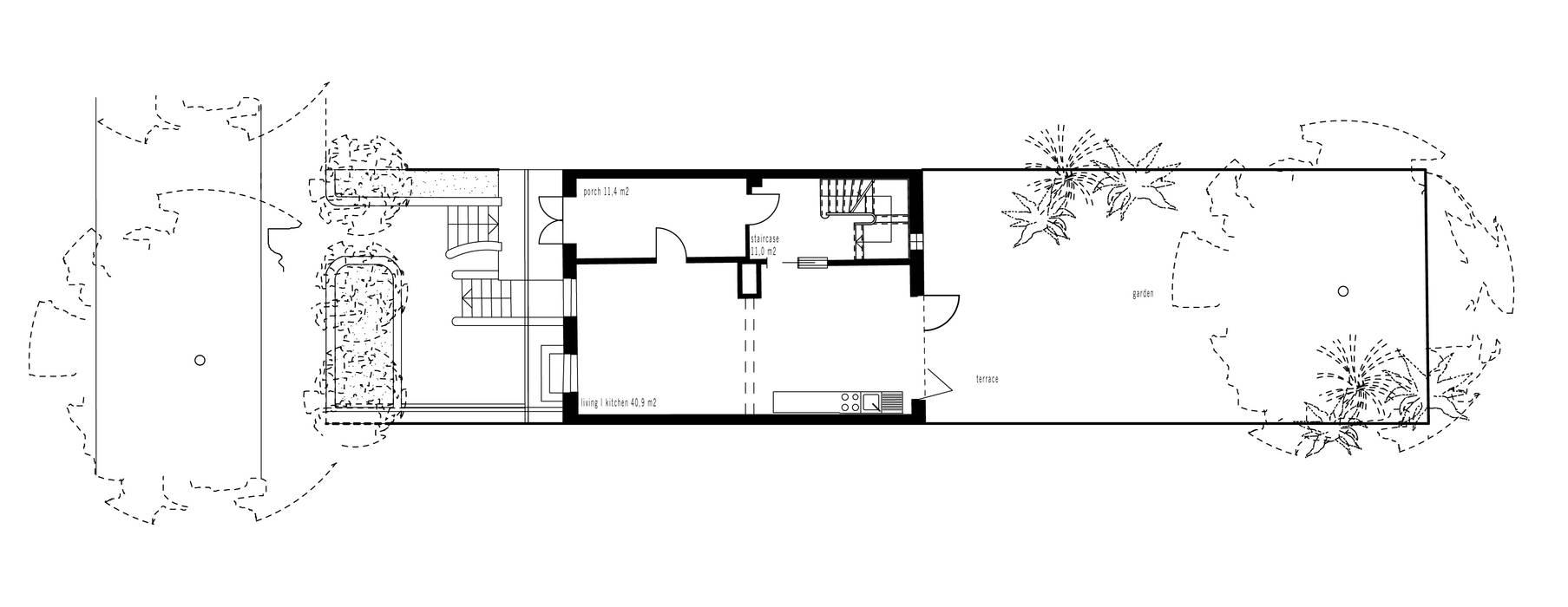 Grundriss:  Häuser von and8 Architekten Aisslinger + Bracht