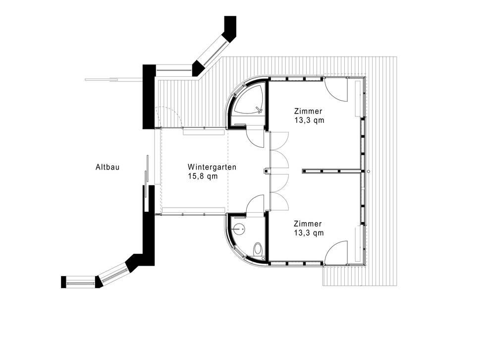 Grundriss Skandinavische Häuser von and8 Architekten Aisslinger + Bracht Skandinavisch