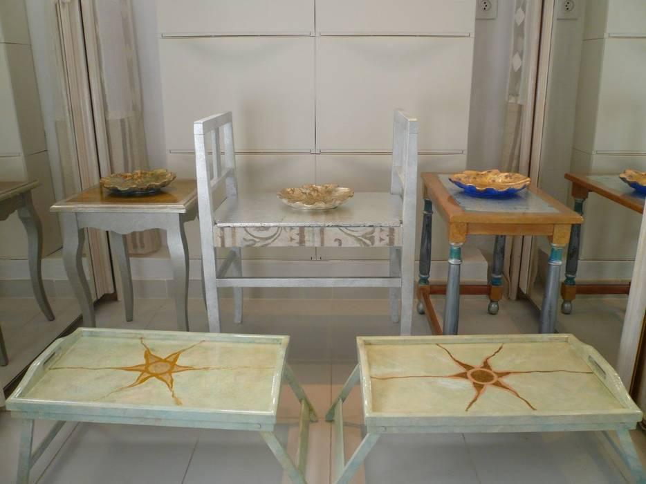 Möbelmalerei Mediterrane Wohnzimmer von Illusionen mit Farbe Mediterran